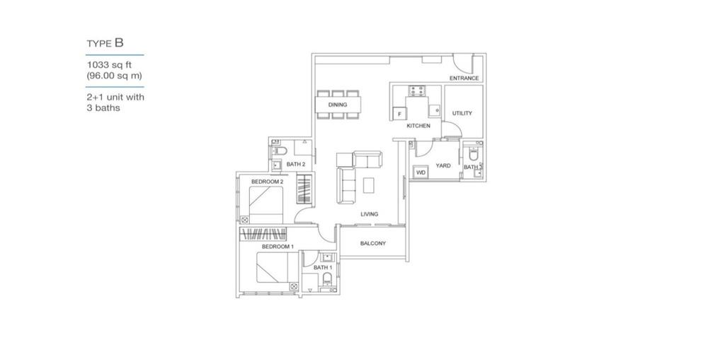 Skyville 8 Type B Floor Plan