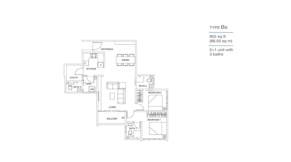 Skyville 8 Type Bx Floor Plan
