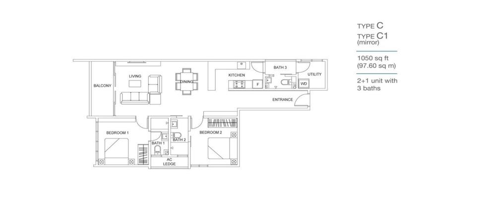 Skyville 8 Type C / C1 Floor Plan