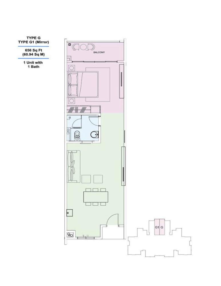 Skyville 8 Type G / G1 Floor Plan