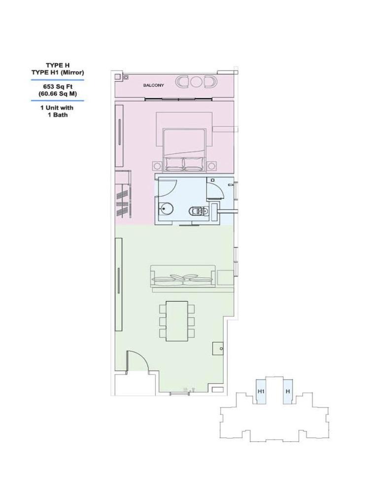 Skyville 8 Type H / H1 Floor Plan