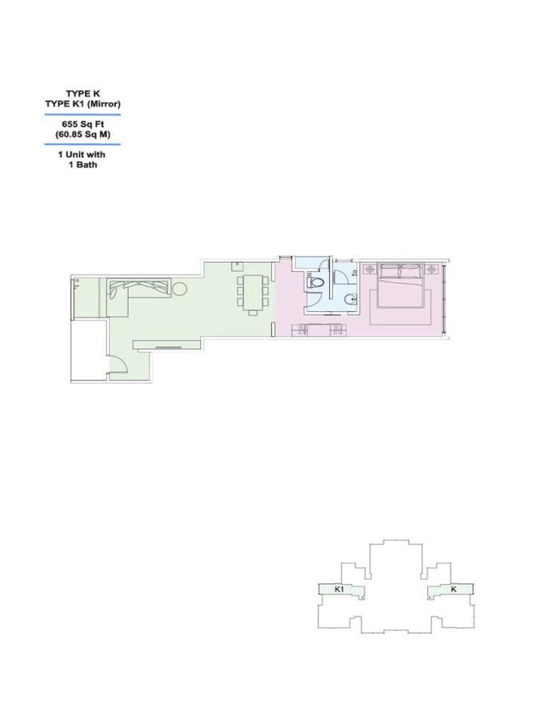Skyville 8 Type K / K1 Floor Plan