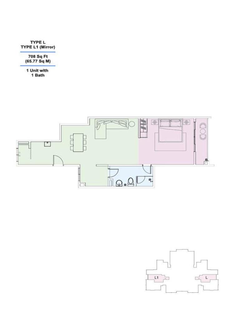 Skyville 8 Type L / L1 Floor Plan