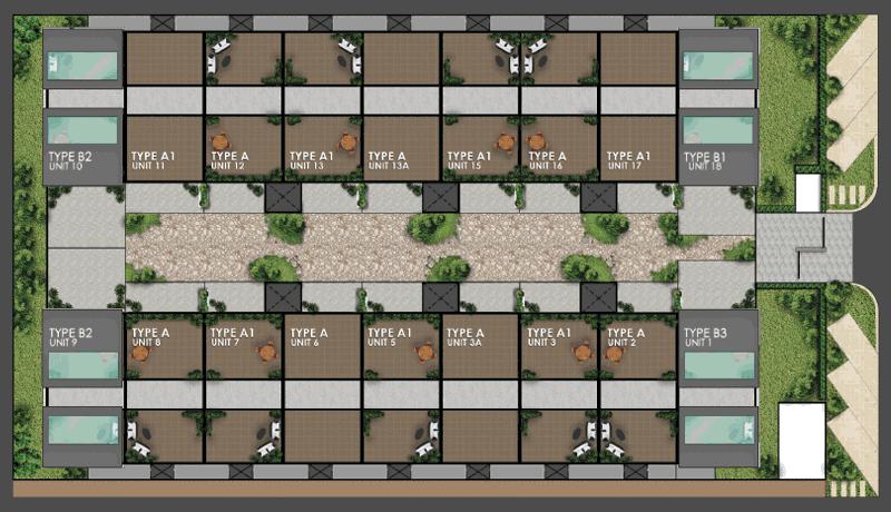 Site Plan of East Utama