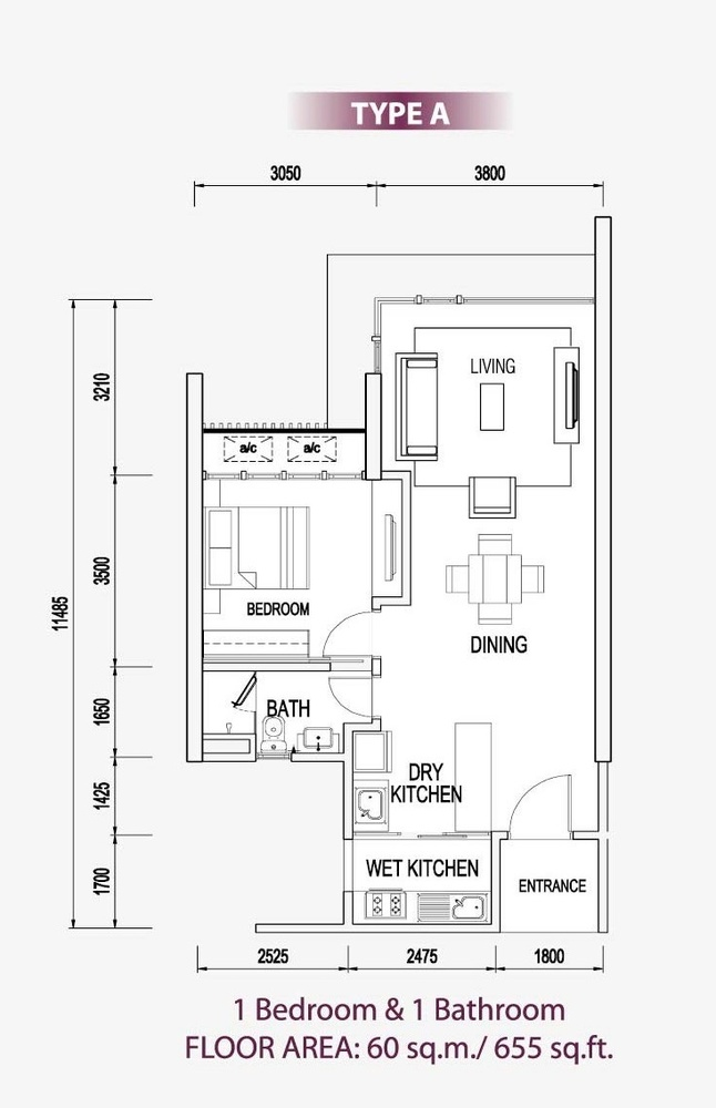 Medini Signature Type A Floor Plan
