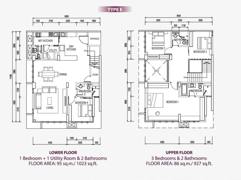 Medini Signature Type E Floor Plan