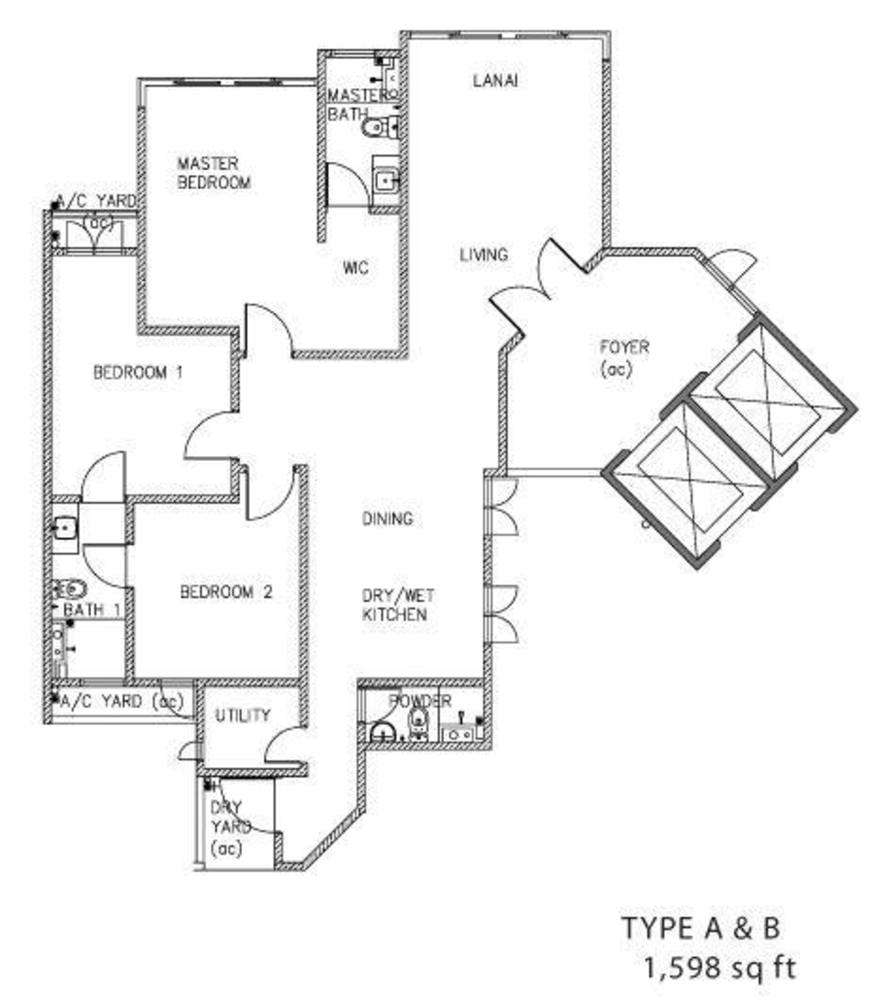 The Clovers Type A & B Floor Plan
