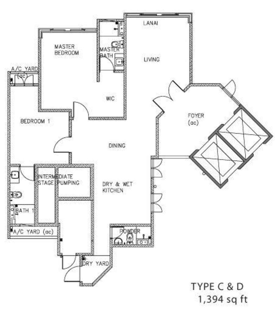 The Clovers Type C & D Floor Plan