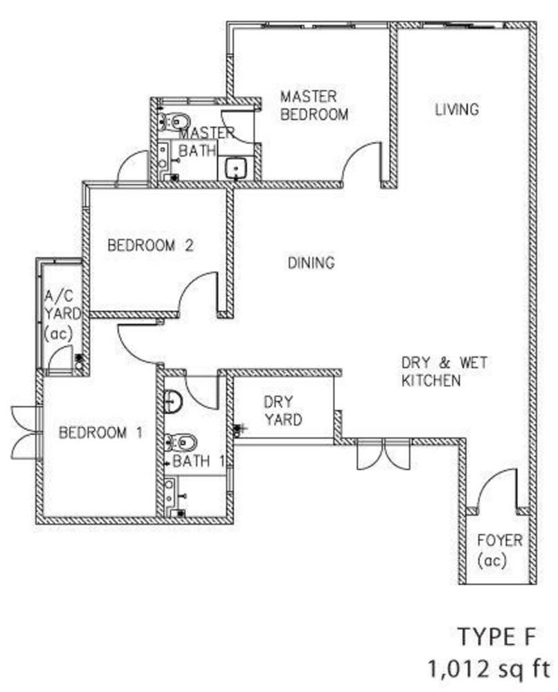 The Clovers Type F Floor Plan