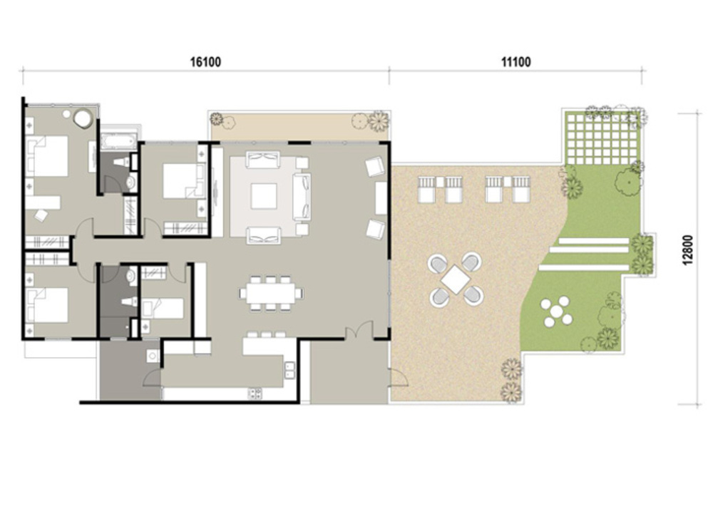 Marinox Sky Villas Type D Floor Plan