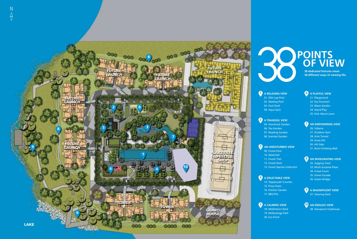 Master Plan of Lakeville Residence
