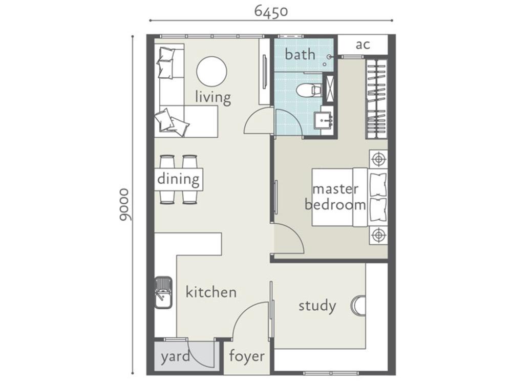 Tropicana Bay Residences Type B Floor Plan