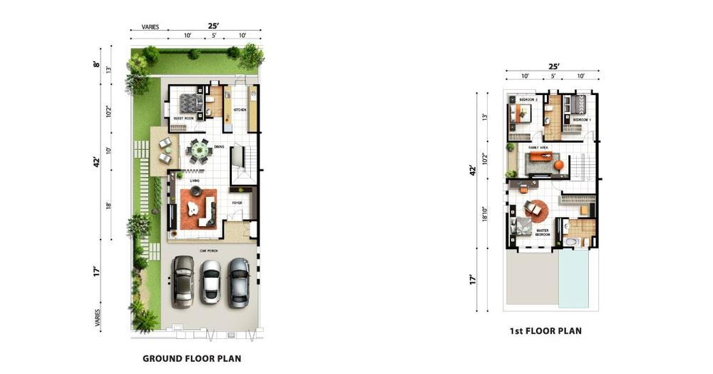 Tropicale Residency Zanna Floor Plan