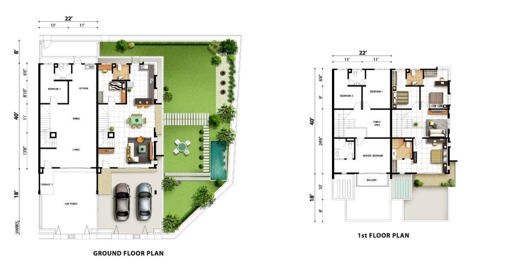 Tropicale Residency Senna Floor Plan
