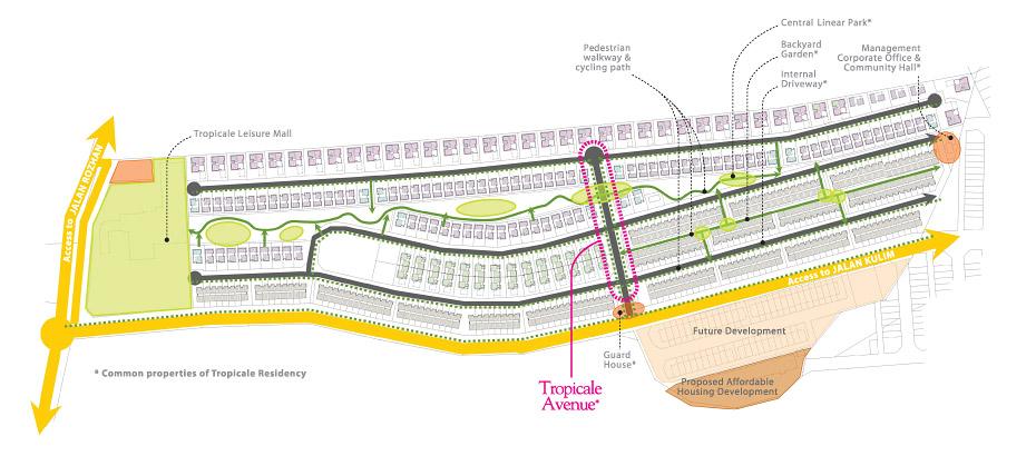 Site Plan of Tropicale Residency
