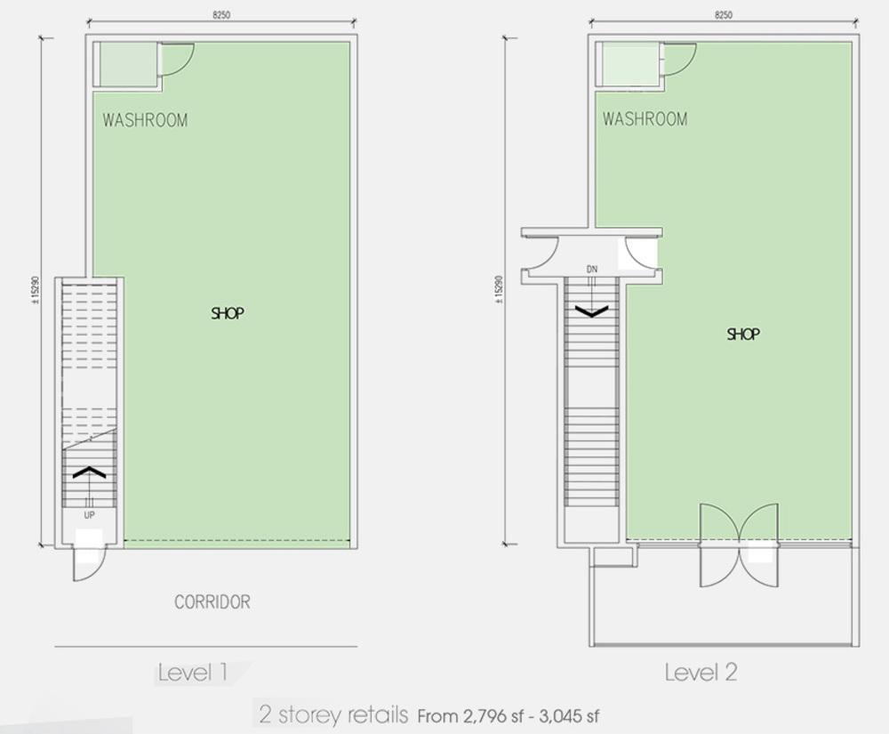 Setia Tri-Angle 2 Storey Retail Floor Plan