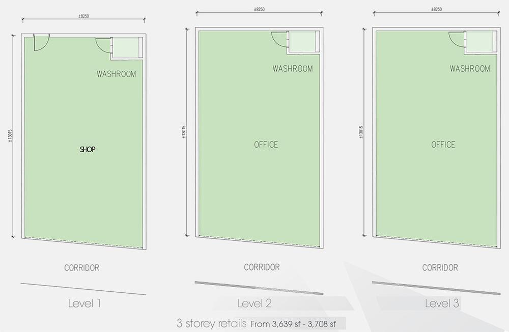 Setia Tri-Angle 3 Storey Retail Floor Plan