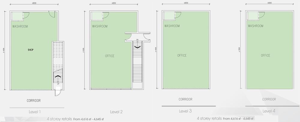 Setia Tri-Angle 4 Storey Retail Floor Plan