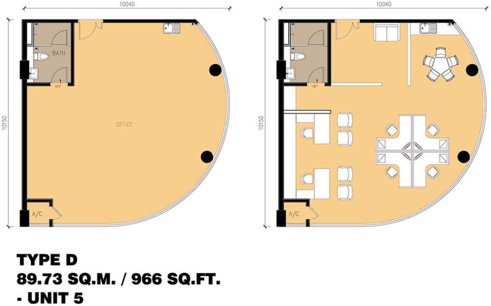 Setia Tri-Angle Corporate Suites - Type D Floor Plan