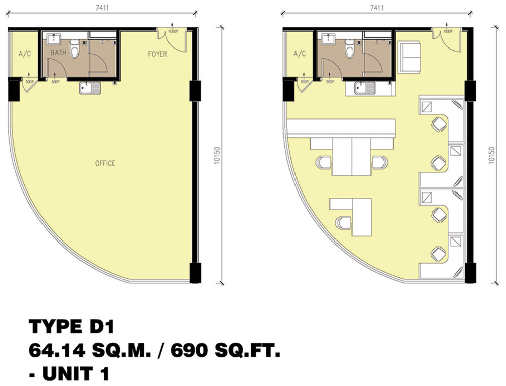 Setia Tri-Angle Corporate Suites - Type D1 Floor Plan