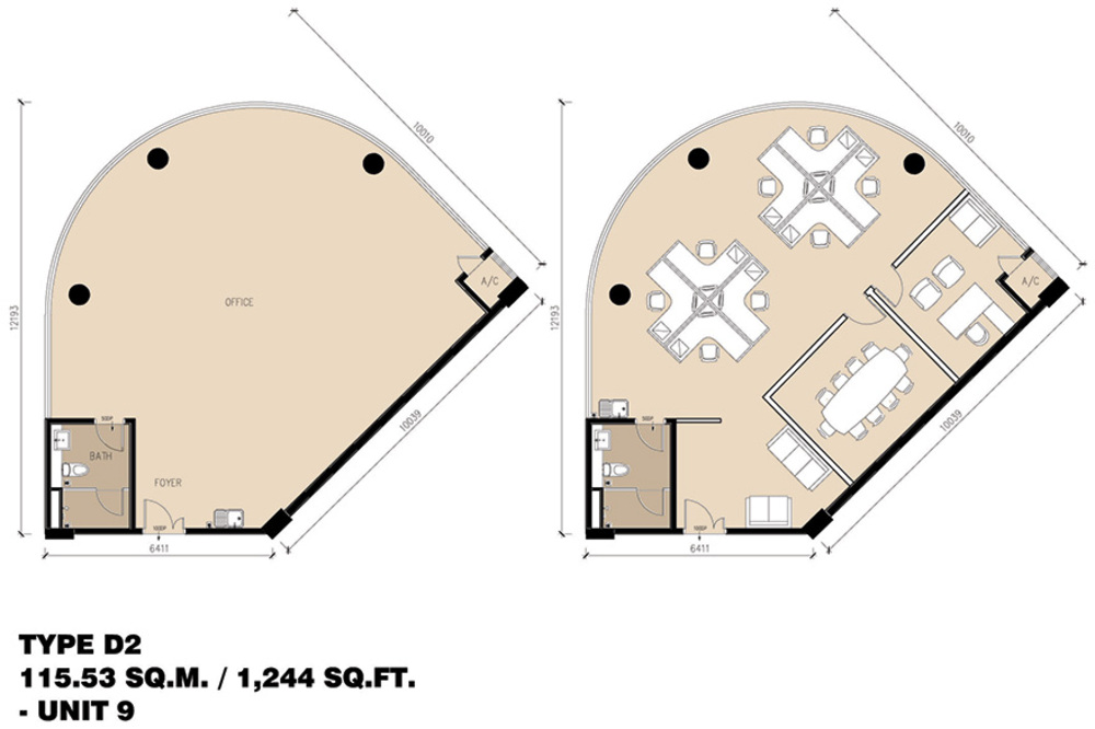 Setia Tri-Angle Corporate Suites - Type D2 Floor Plan