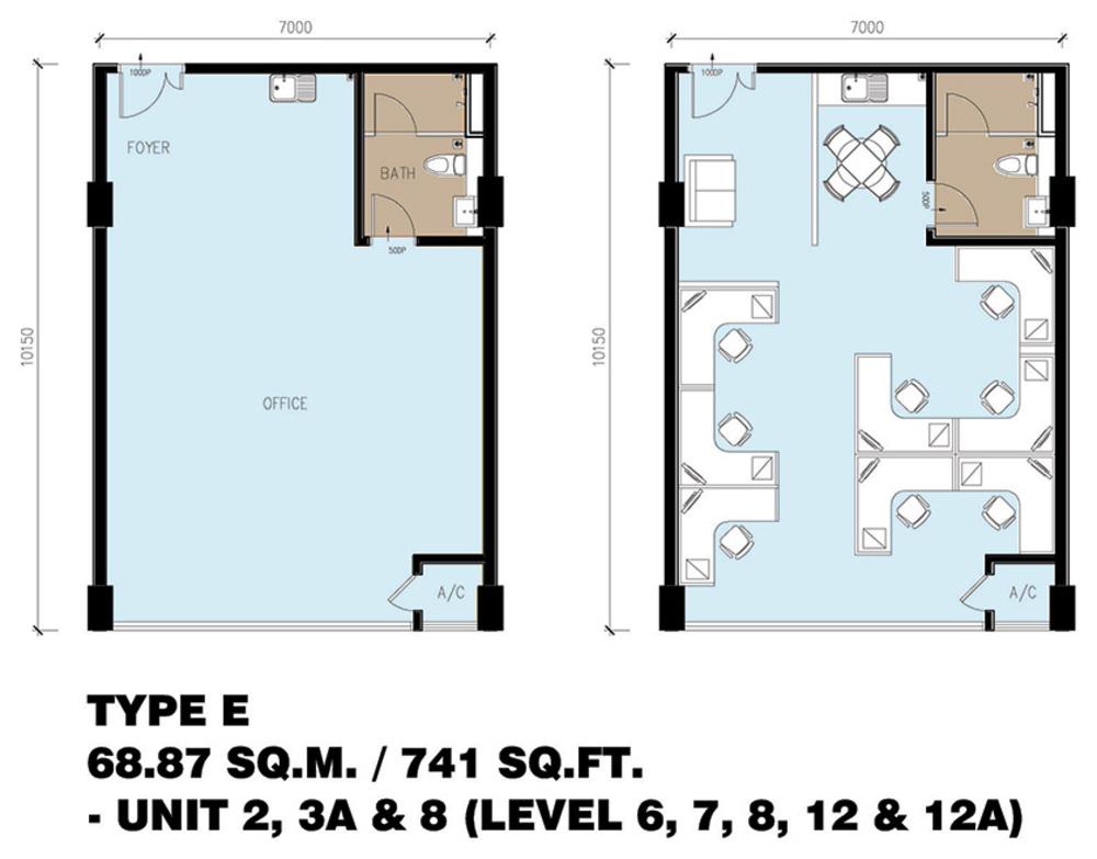Setia Tri-Angle Corporate Suites - Type E Floor Plan