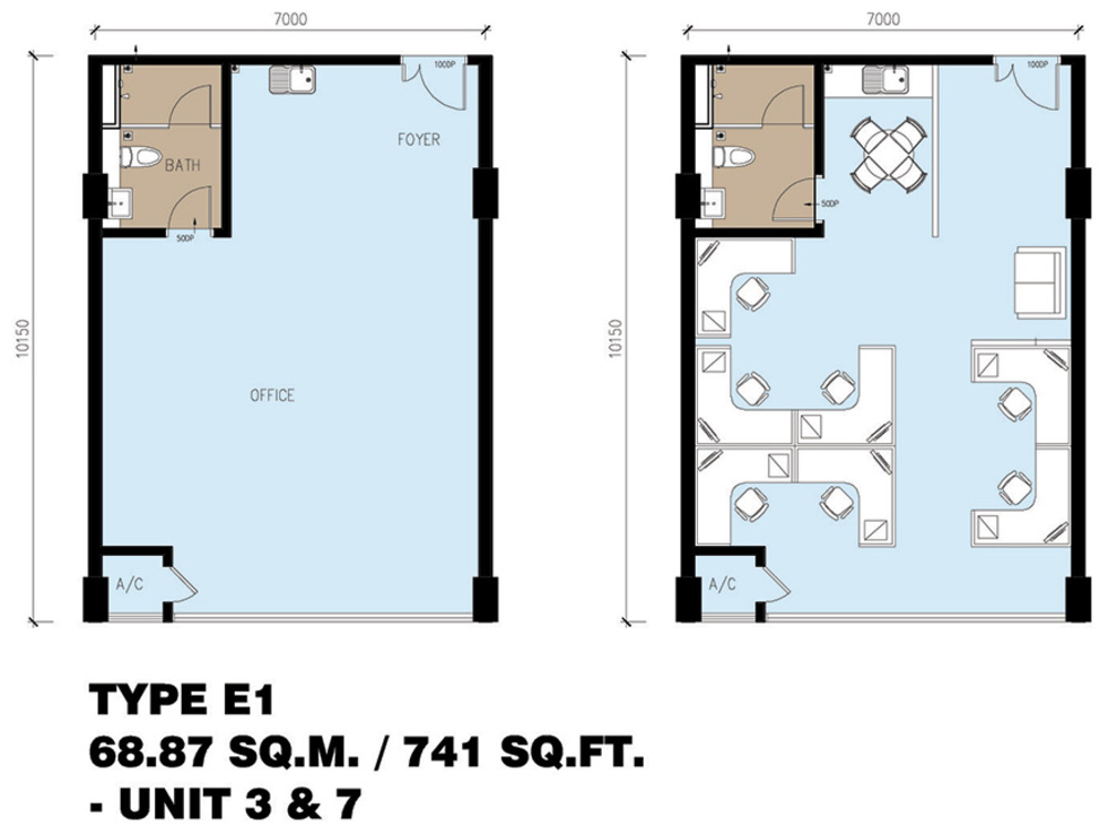 Setia Tri-Angle Corporate Suites - Type E1 Floor Plan