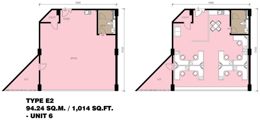 Setia Tri-Angle Corporate Suites - Type E2 Floor Plan