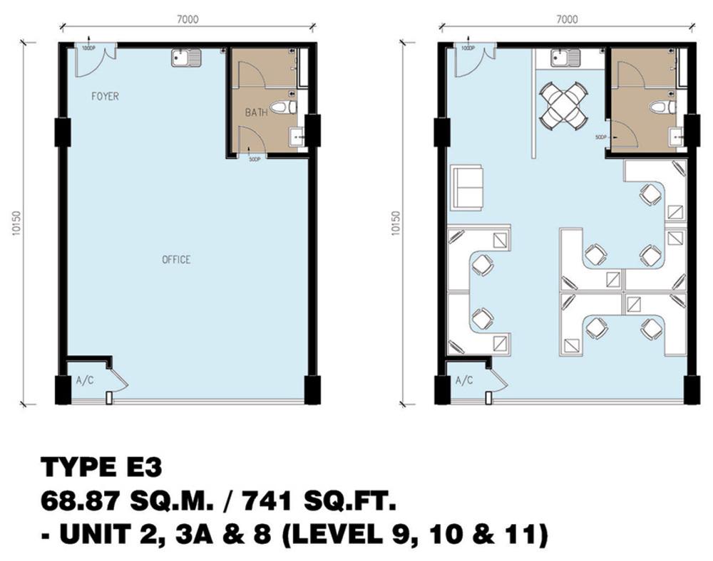 Setia Tri-Angle Corporate Suites - Type E3 Floor Plan