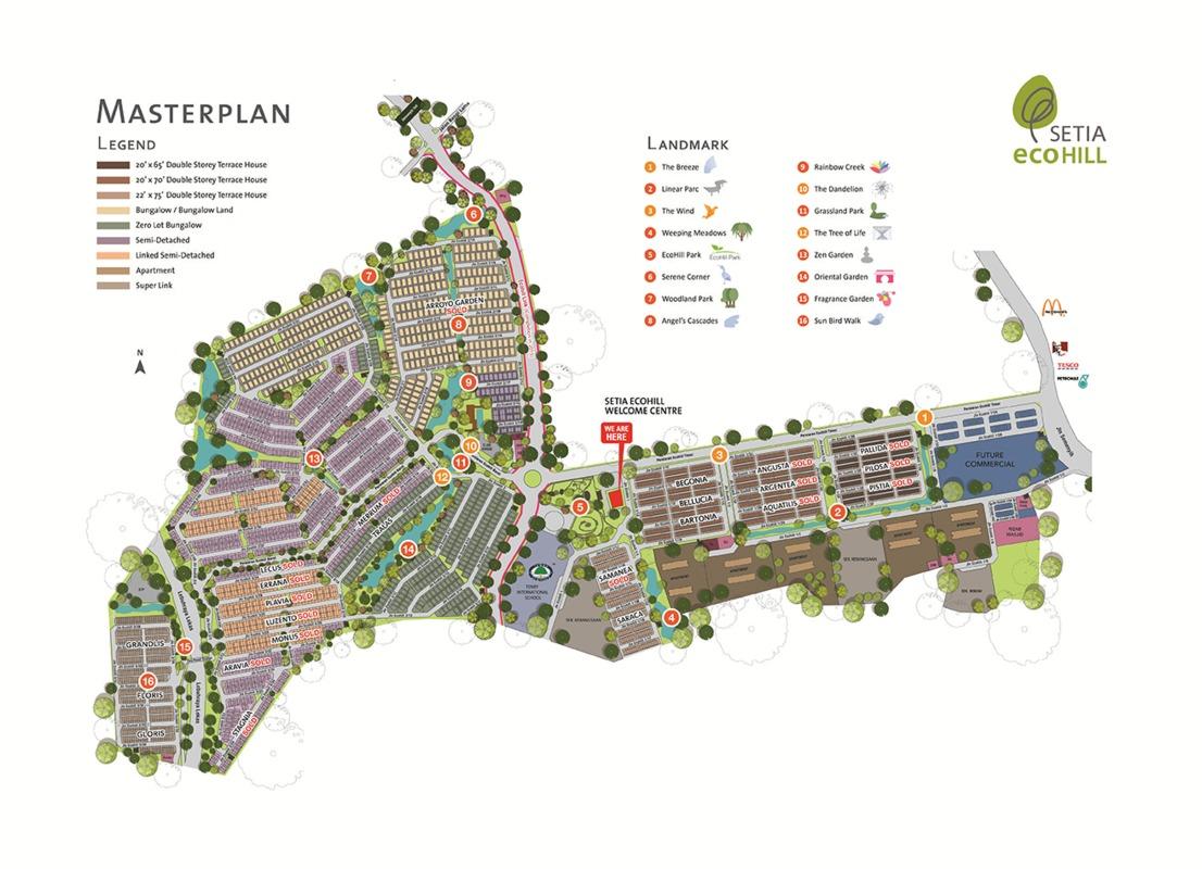 Master Plan of Setia EcoHill