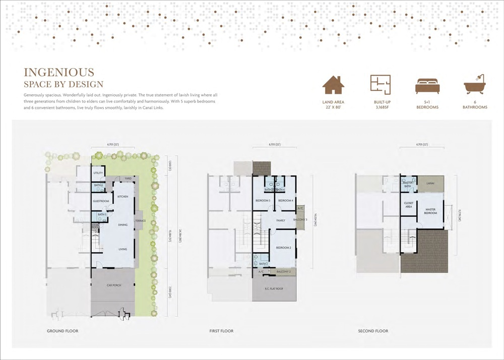 M Residence Canal Link Floor Plan