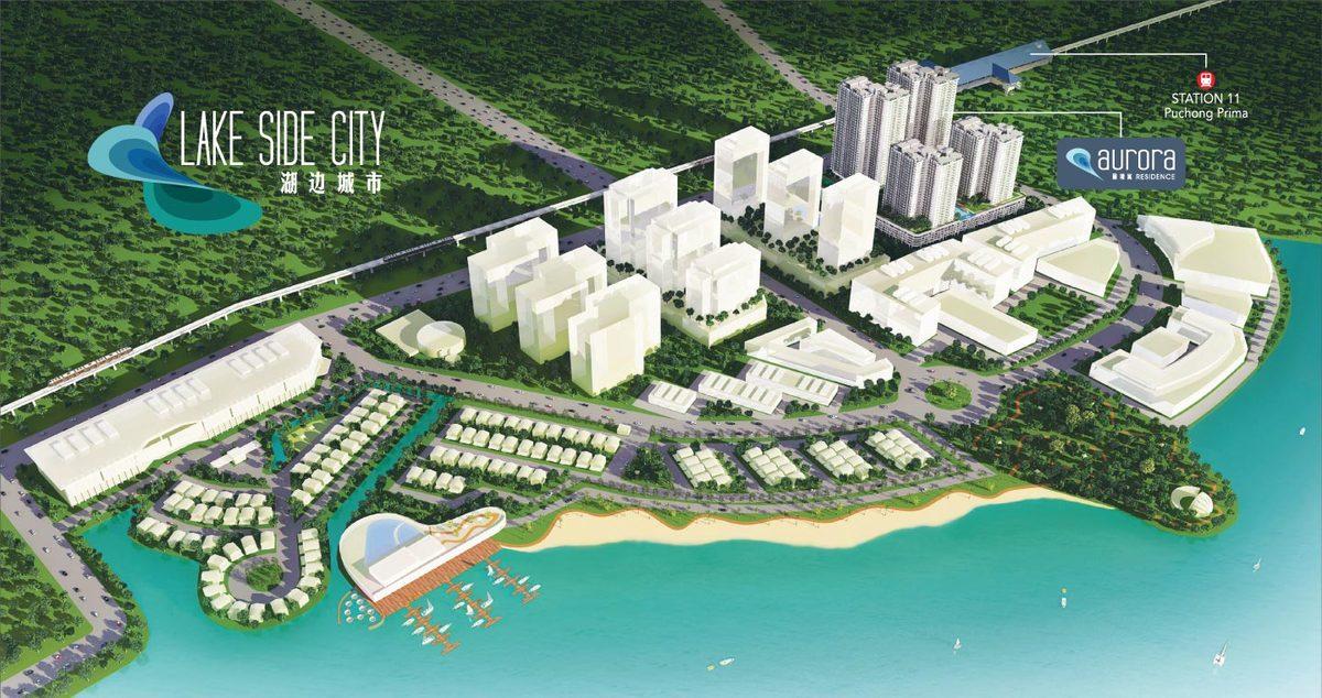 Master Plan of Aurora Residence @ Lake Side City