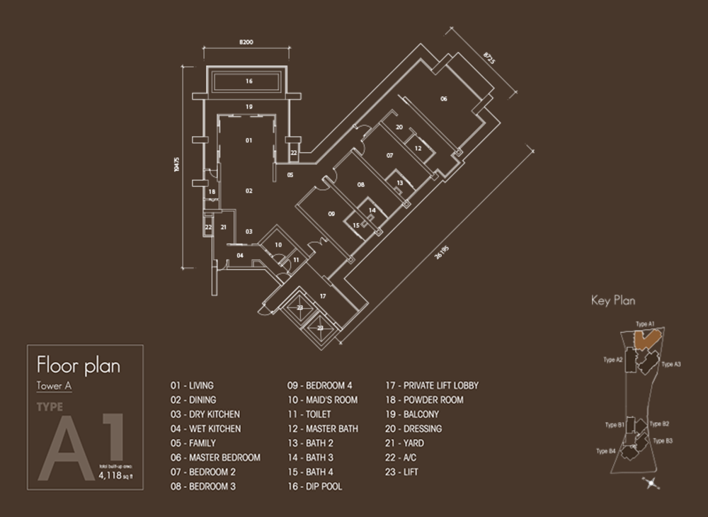 Setia V Residences Type A1 Floor Plan