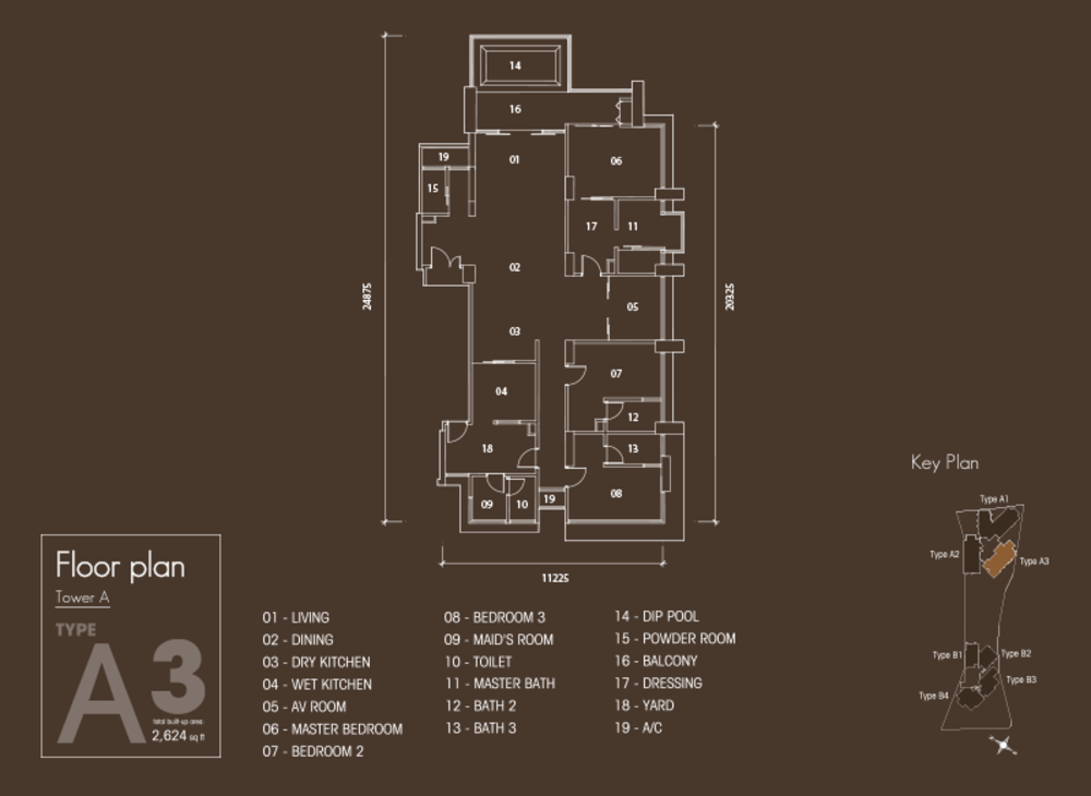 Setia V Residences Type A3 Floor Plan