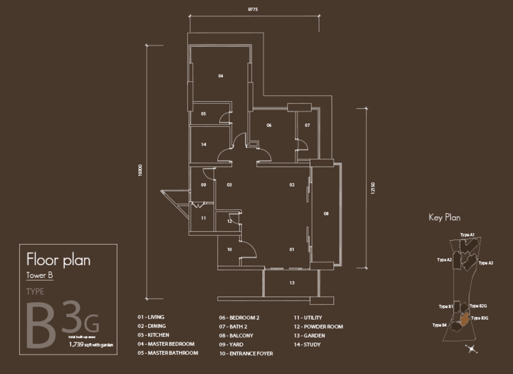 Setia V Residences Type B3G Floor Plan