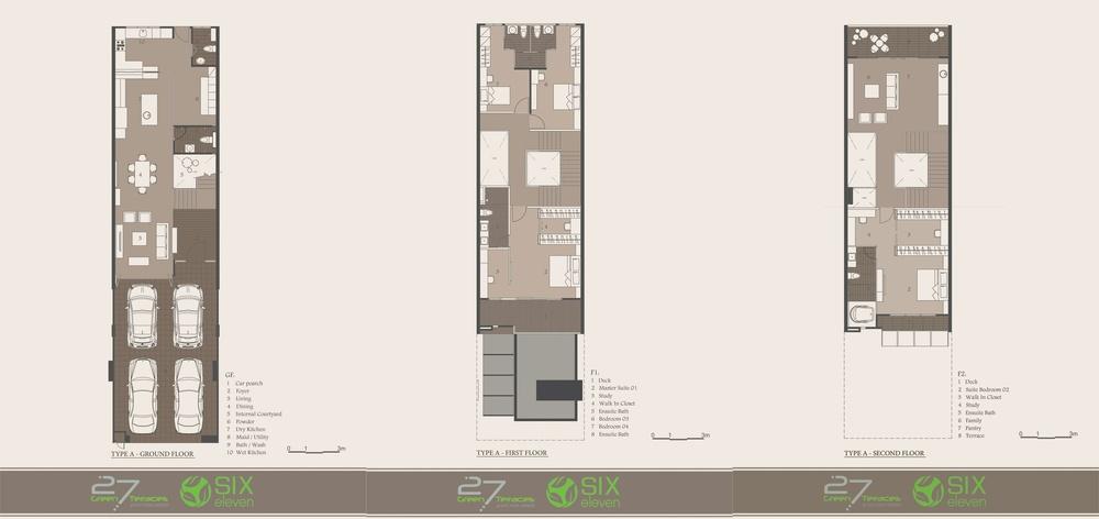 27 Green Terraces Type A Floor Plan