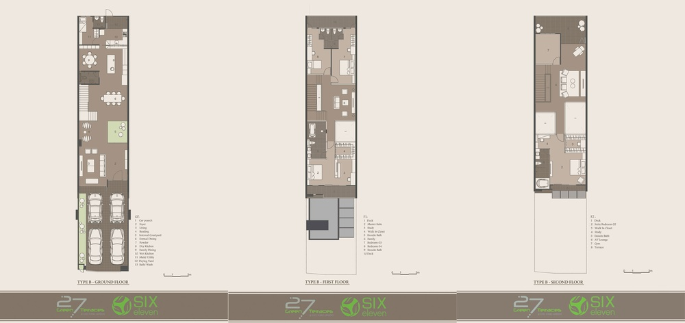 27 Green Terraces Type B Floor Plan