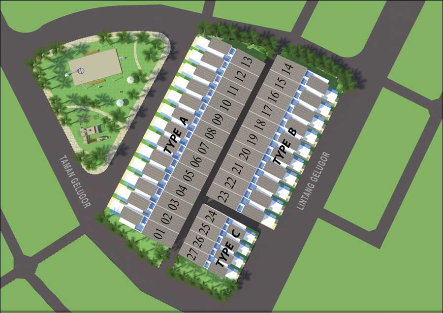 Site Plan of 27 Green Terraces