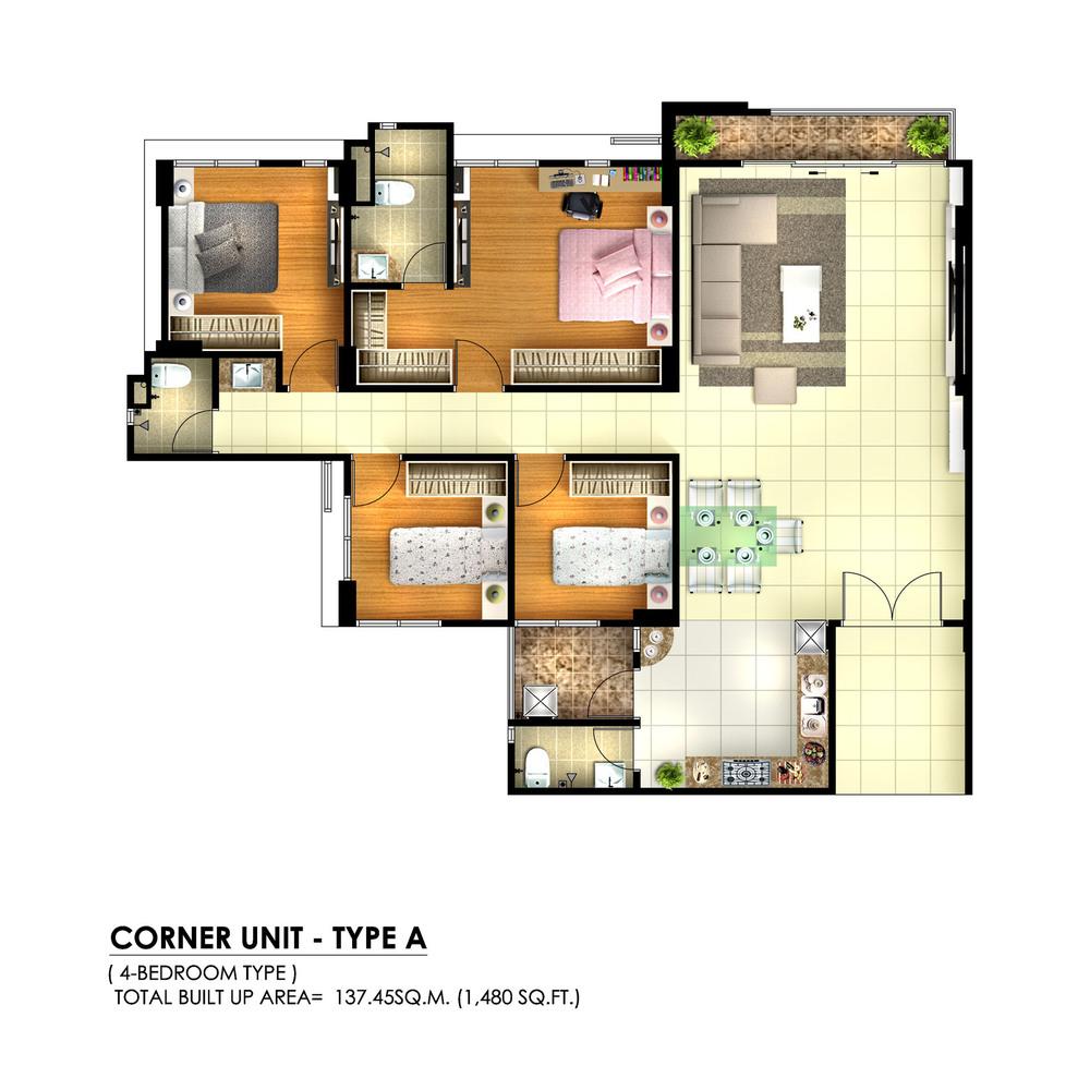 Tambun Royale City Royale Infinity - Type A Floor Plan