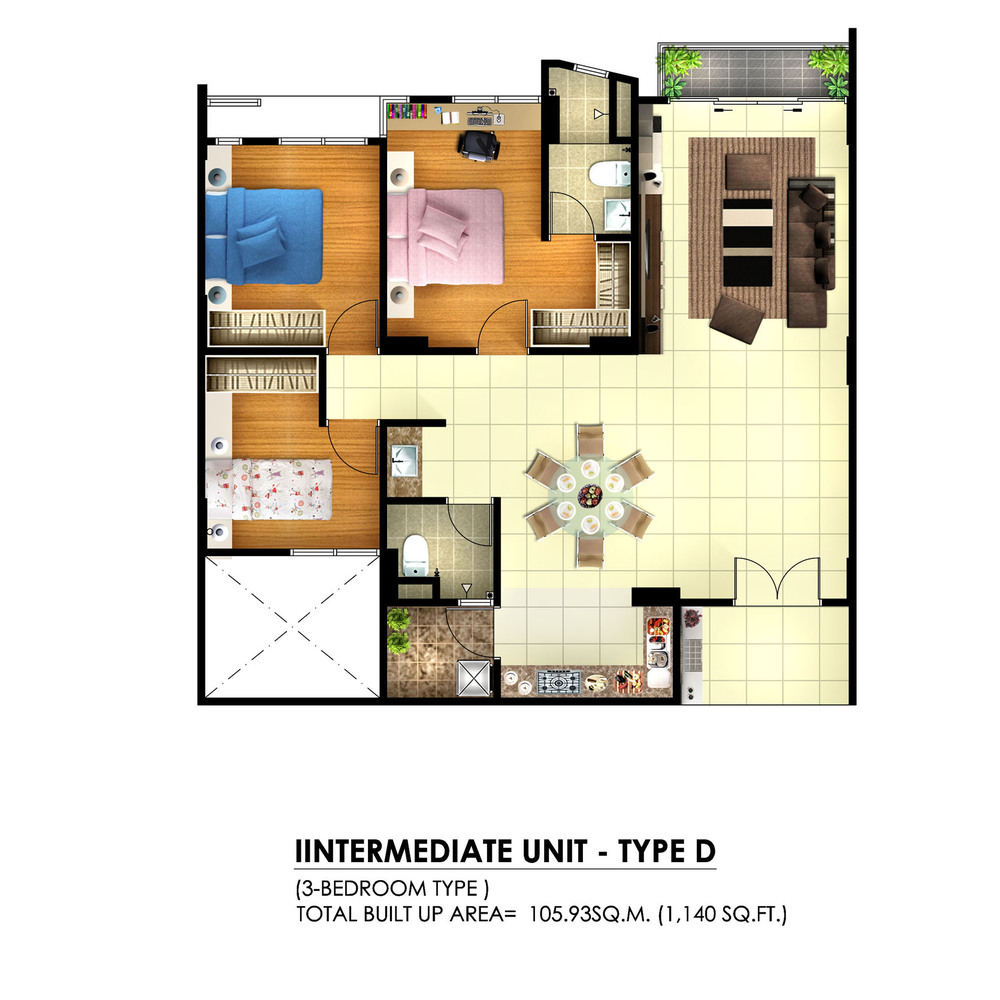 Tambun Royale City Royale Infinity - Type D Floor Plan