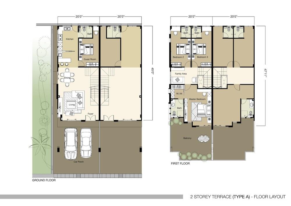 Tambun Royale City Royale Nova - Type A Floor Plan