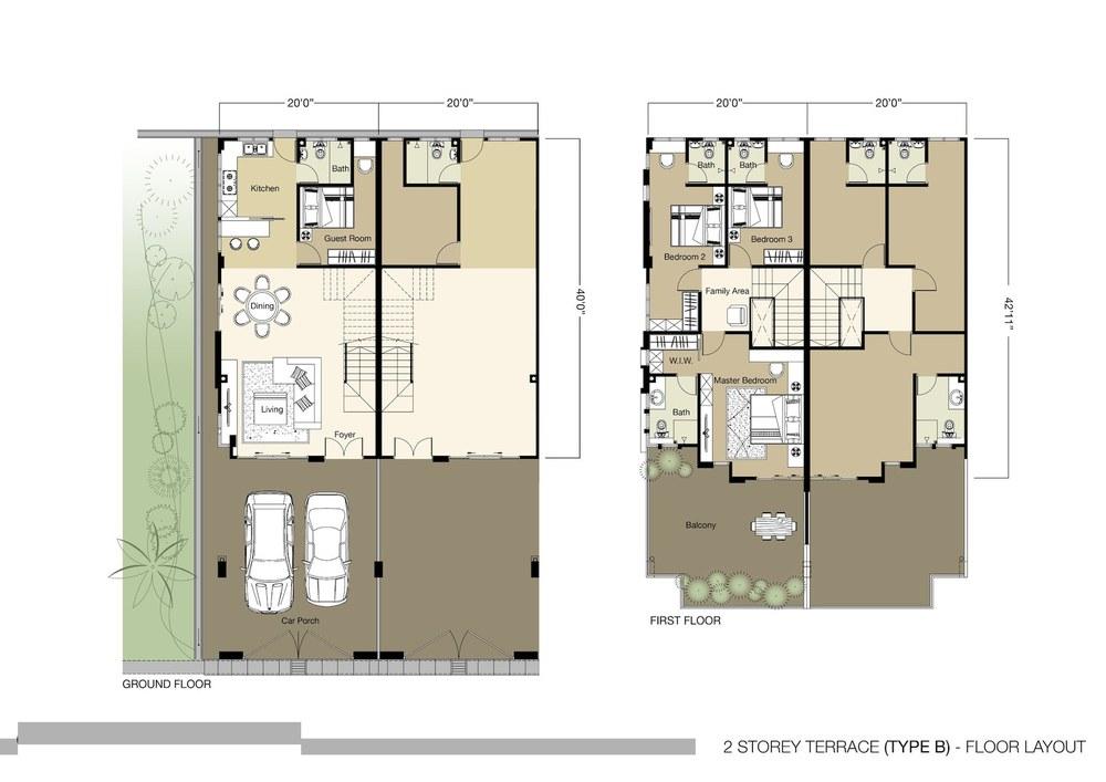 Tambun Royale City Royale Nova - Type B Floor Plan