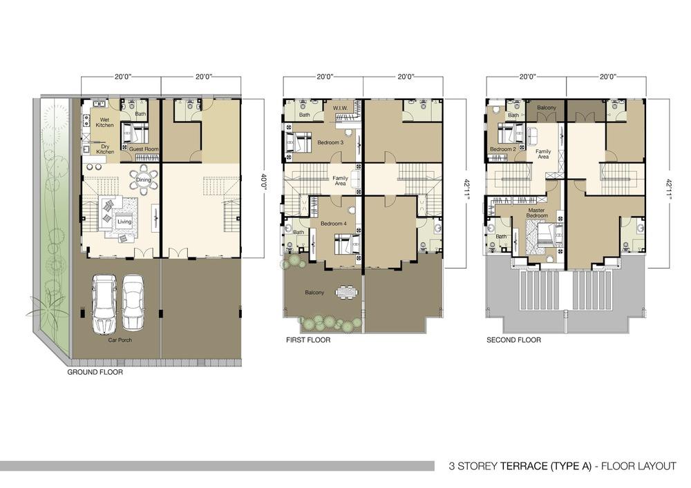 Tambun Royale City Royale Heights - Type A Floor Plan