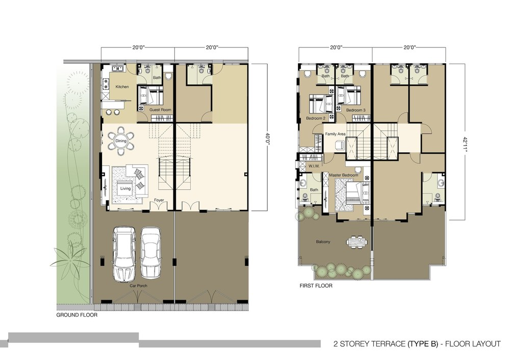 Tambun Royale City Royale Heights - Type B Floor Plan