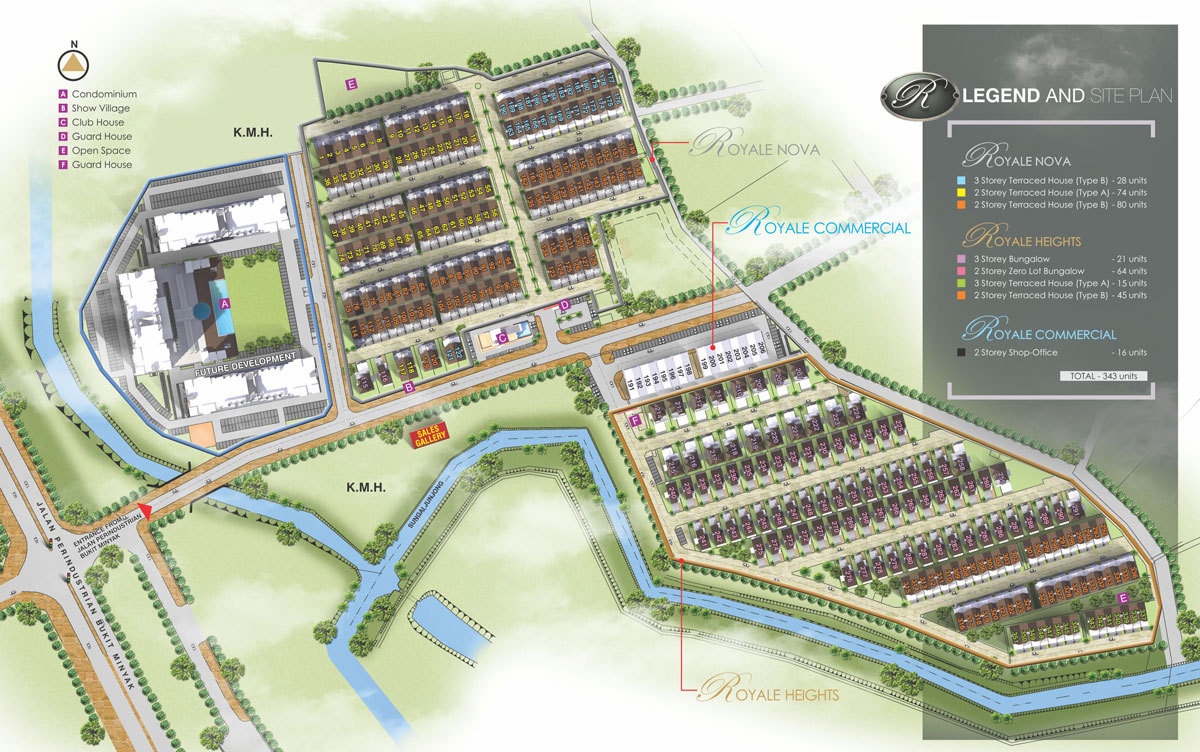 Master Plan of Tambun Royale City