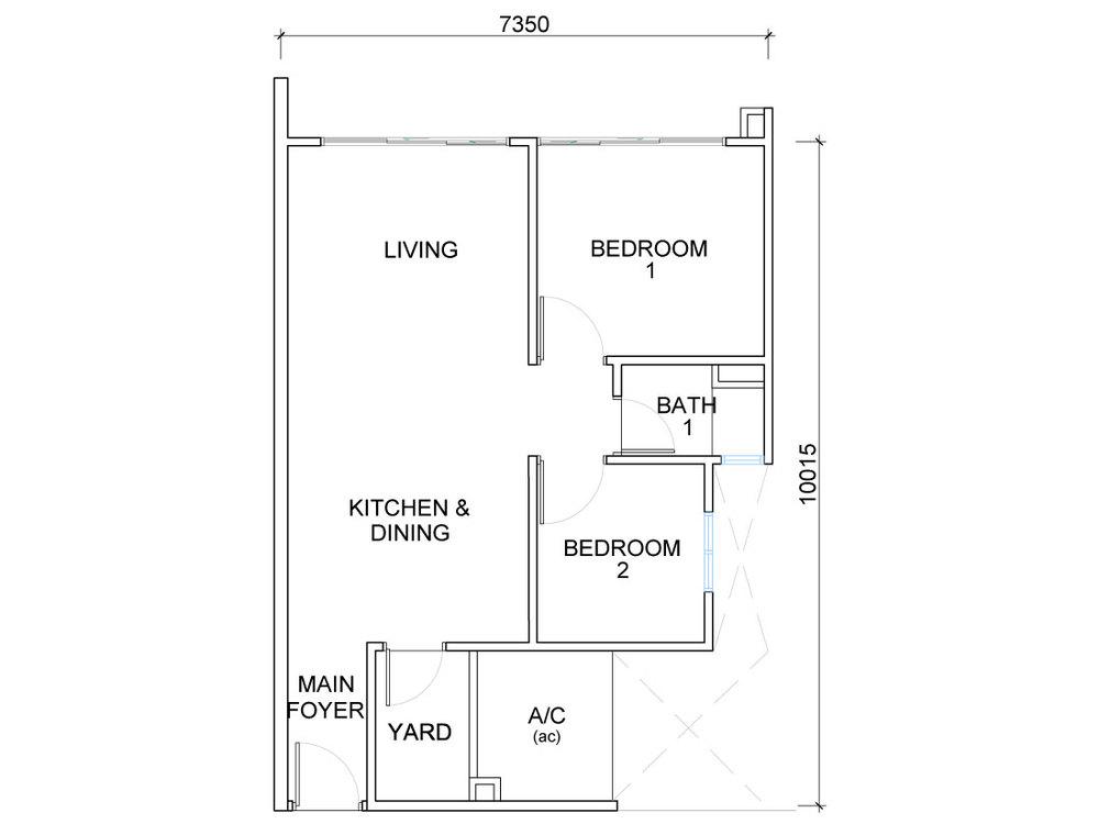 QuayWest Residence Type A2 Floor Plan