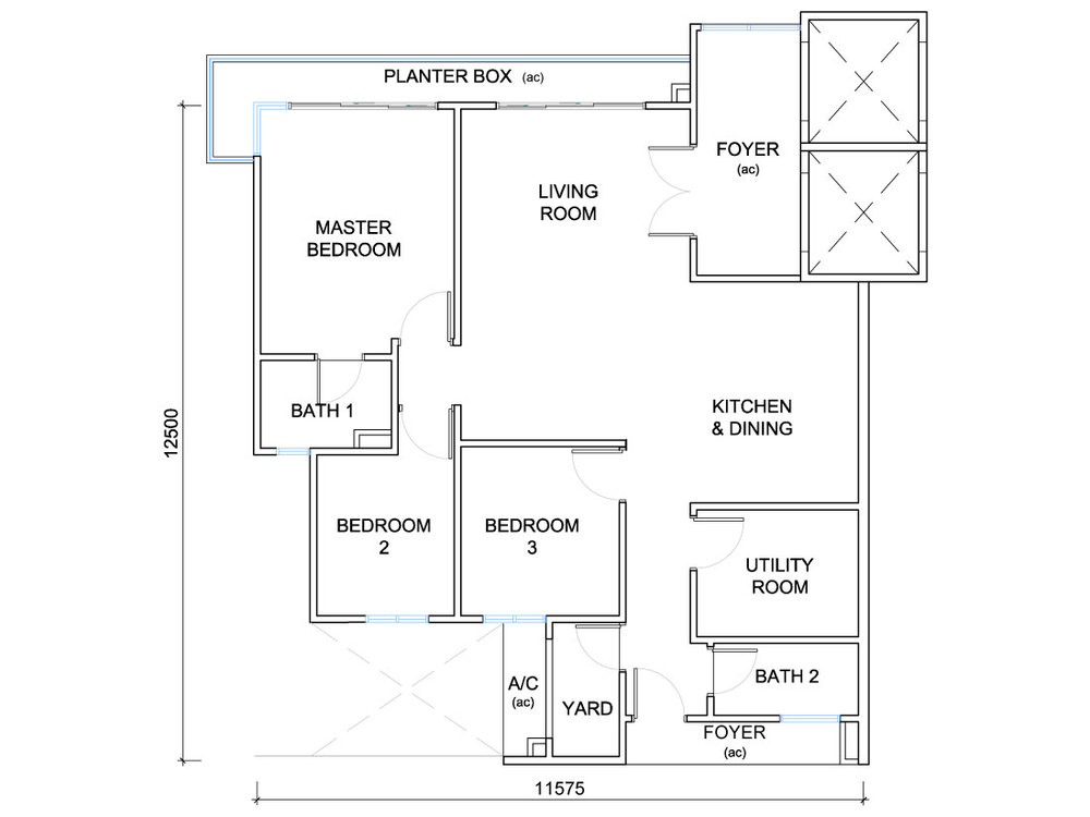 QuayWest Residence Type B2 Floor Plan