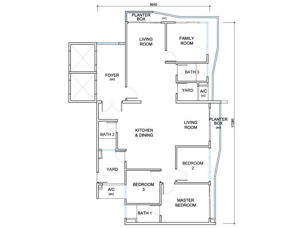 QuayWest Residence Type C1 Floor Plan