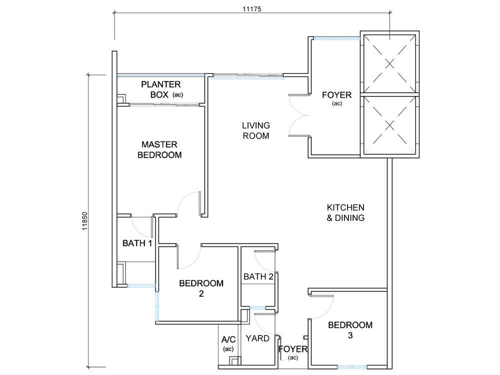 QuayWest Residence Type D3 Floor Plan