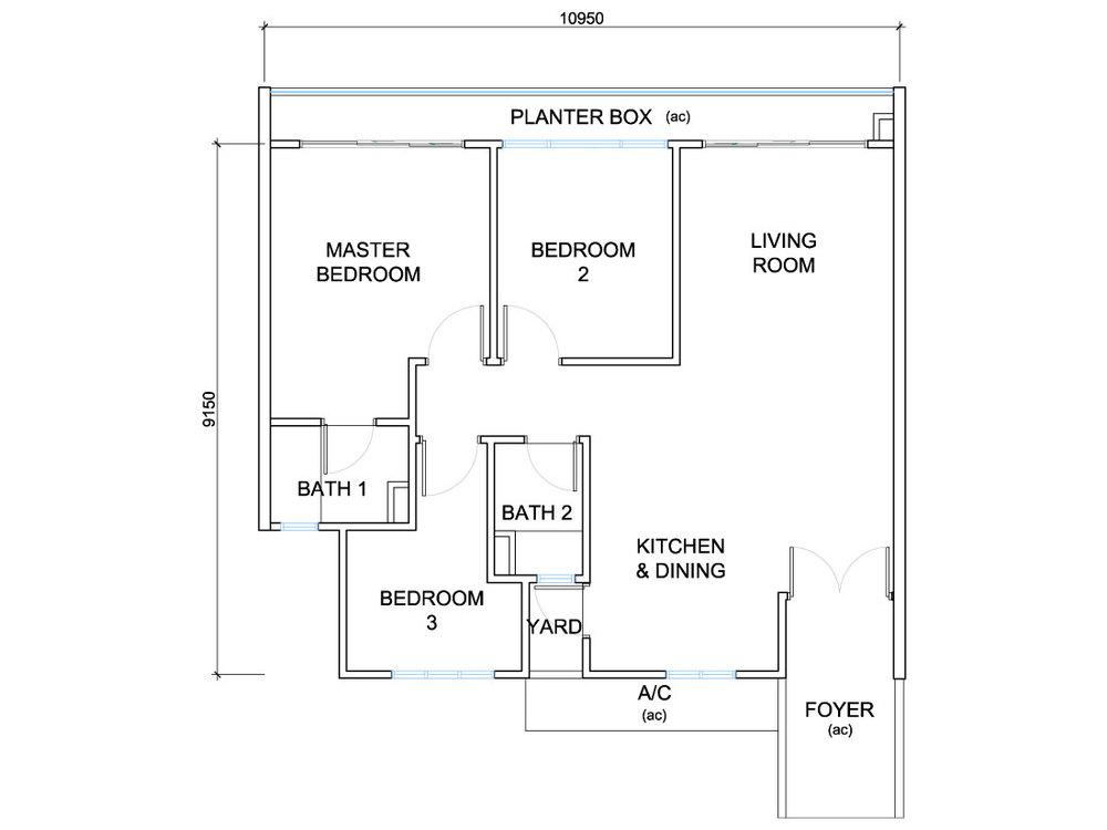 QuayWest Residence Type F1 Floor Plan